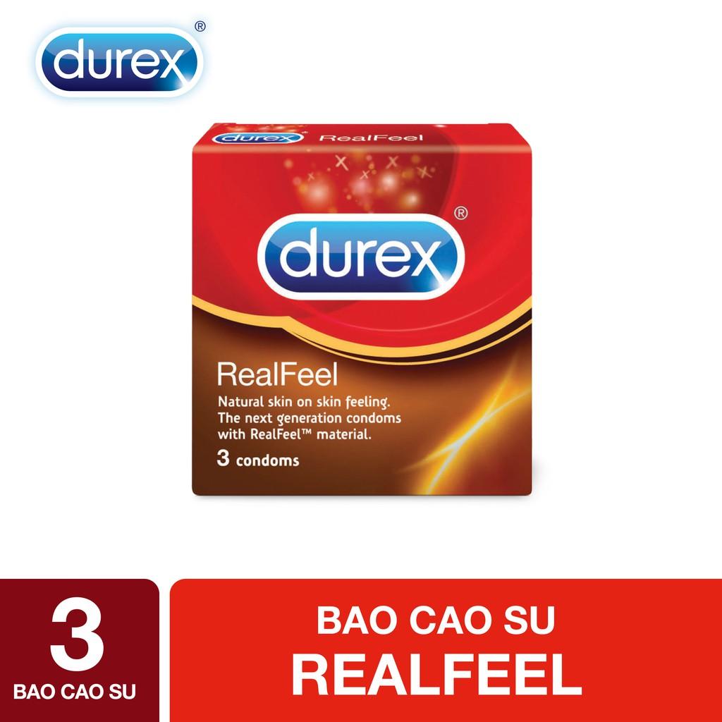 Bao cao su Durex Real Feel 3 bao