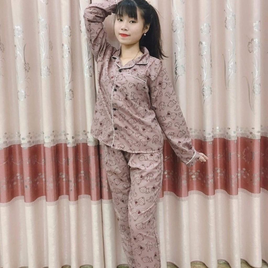Sale👉Bộ Pijama (Quần Dài-Tay Dài) Kate Thái Cao Cấp Hàng Loại 1 Mềm Mại, Thầm Hút Mồ Hôi, Không Xù