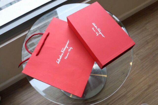 Thắt lưng nam dây lưng cao cấp hai mặt thay đổi sang trọng kèm túi giấy hộp đỏ giấy