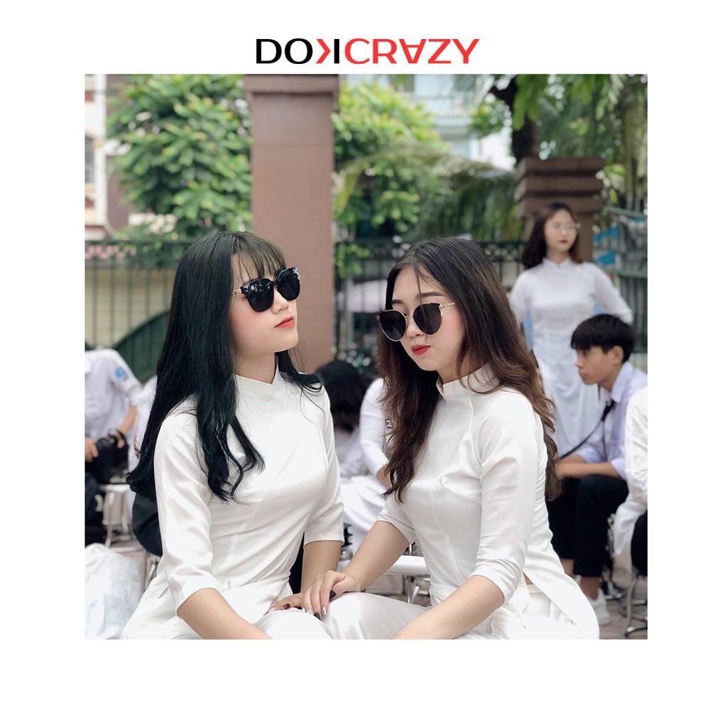 Kính mát mắt mèo thời trang DOKCRAZY chống tia UV phong cách Hàn Quốc nữ tính hiện đại CAMEDY