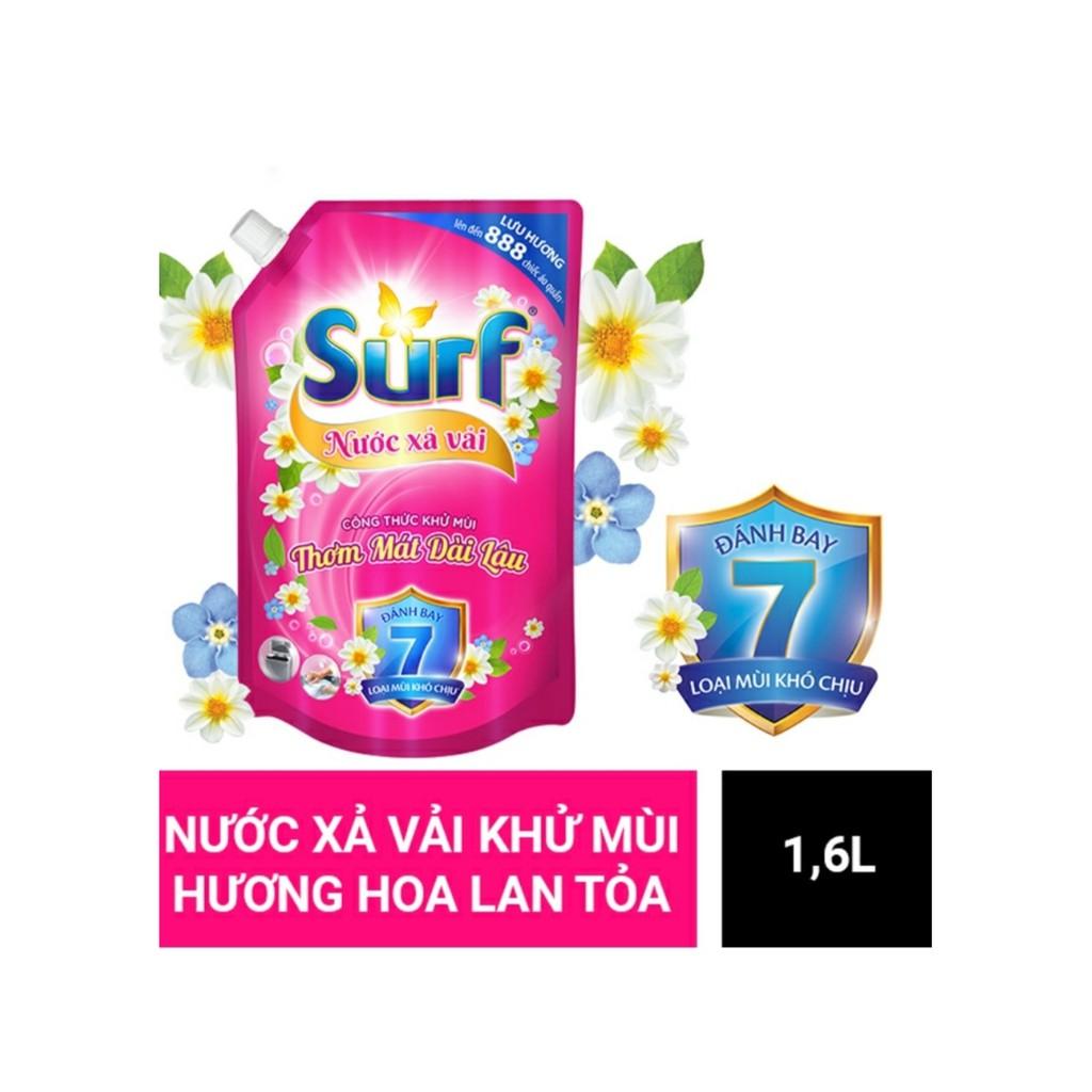 [Mã 267FMCGSALE giảm 8% đơn 500K] (MỚI) Nước Xả Vải SURF 1.6l Khử Mùi Hương Hoa Lan Tỏa và Hương Hoa Lôi Cuốn
