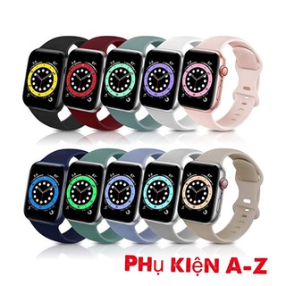 DÂY CAO SU APPLE WATCH, T500, WATCH 6, W26, W46, U78Plus /Sport band Đủ size