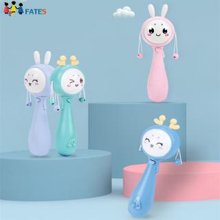 Baby Bunny Toys Mobile Musical Rattle Soft Teether Interactive Toy Educational Toys
