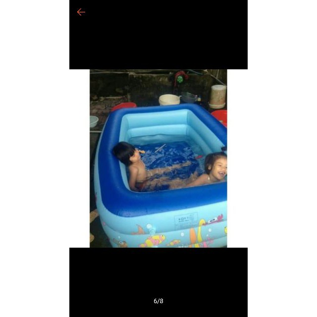 Bể bơi hồ bơi 3 Tầng 1M5 Kèm Bơm điện