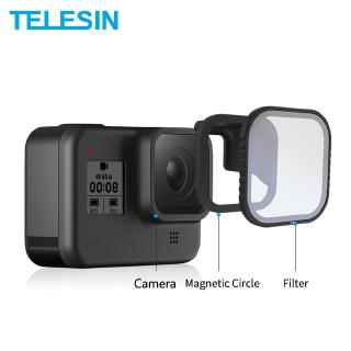 TELESIN 4Pack ND8 16 32 CPL Magnetic Filter Set Lens Protector ND8 ND16 ND32 CPL lọc cho GOPRO Anh hùng 8 Camera Lens