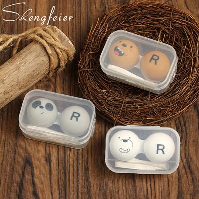 [Chụp 1 tóc 3] hộp ppbox Kính áp tròng hoạt hình gấu sữa nhỏ Kính áp tròng kính cận thị...
