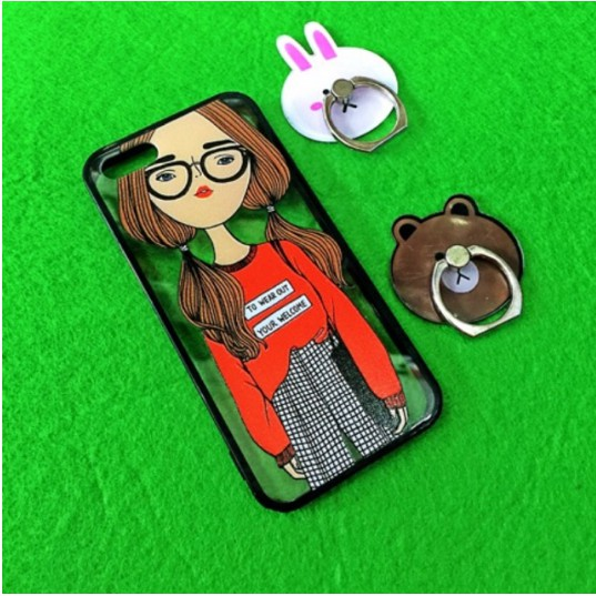 Ốp hình cô gái cho IPHONE 6 6plus 7plus 8plus( o24)