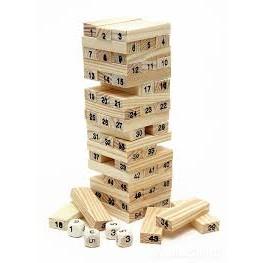 Bộ đồ chơi rút gỗ 54 thanh mini