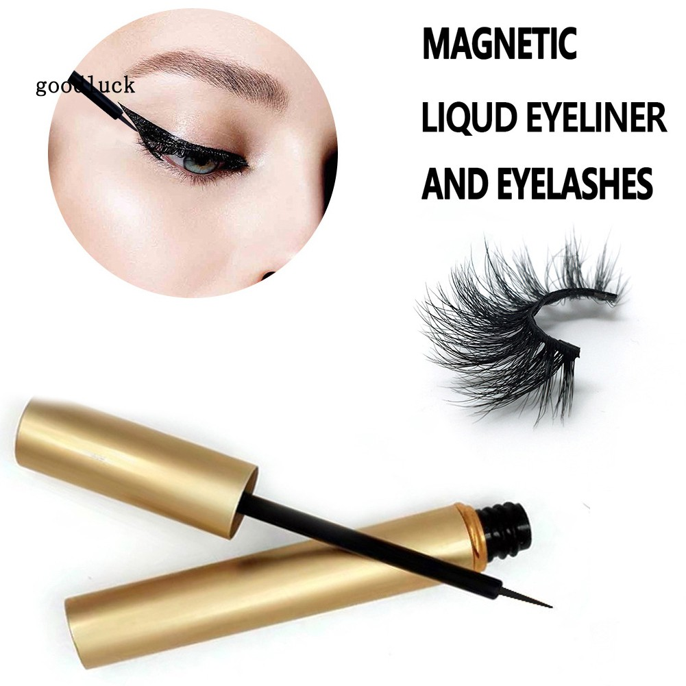 GLK_Magnetic Liquid Eyeliner Fake Eyelashes Set Waterproof Long Lasting Cosmetic