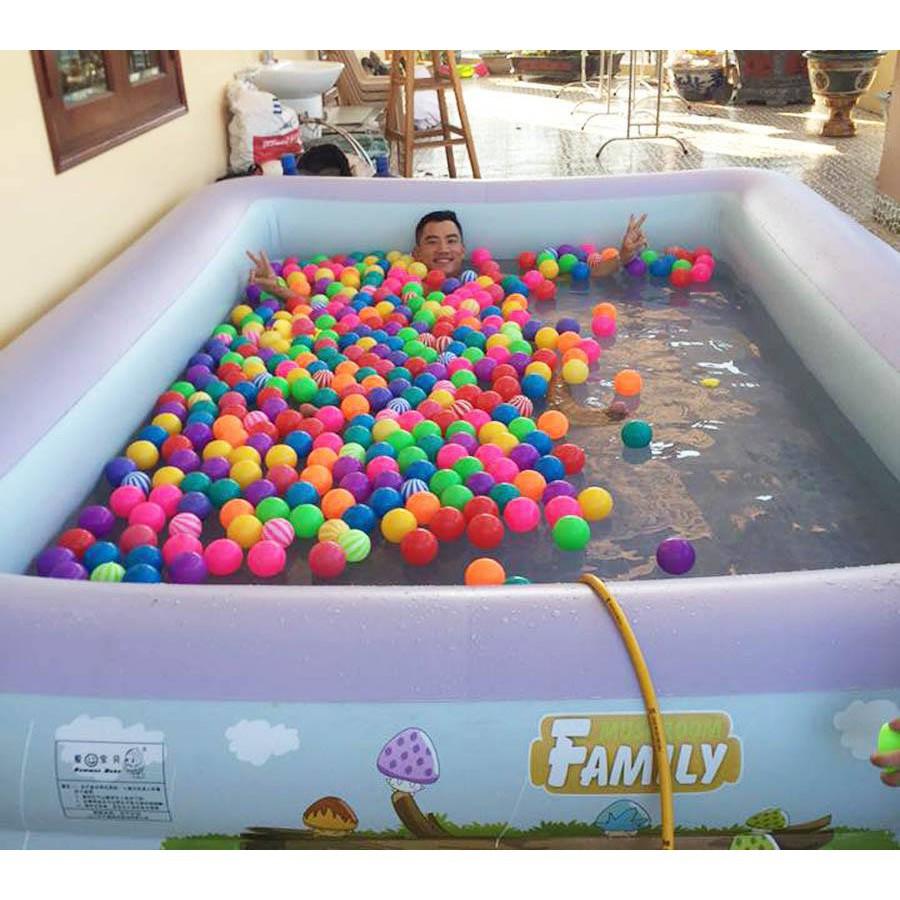 Bể bơi gia đình loại dày 255*165*60 tặng bơm điện và phao bơi
