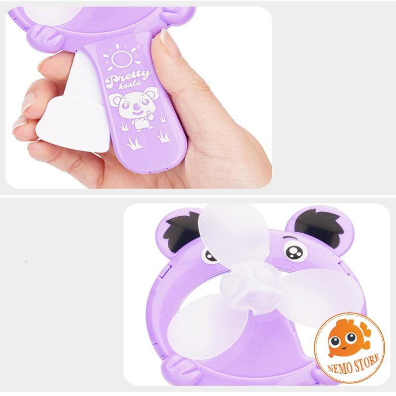 Quạt cầm tay mini - Quạt bóp tay hình thú dễ thương