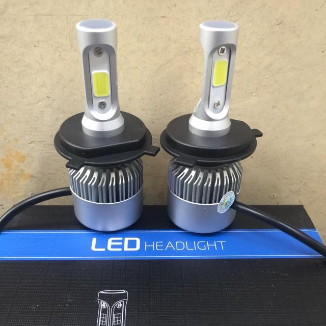 Đèn pha led 3 tim siêu sáng cho xe máy chân H4