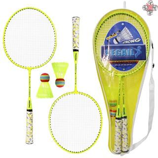 TOP 1 Pair Badminton Rackets with Balls 2 Player Badminton Set for Children Indoor Outdoor Sport Game