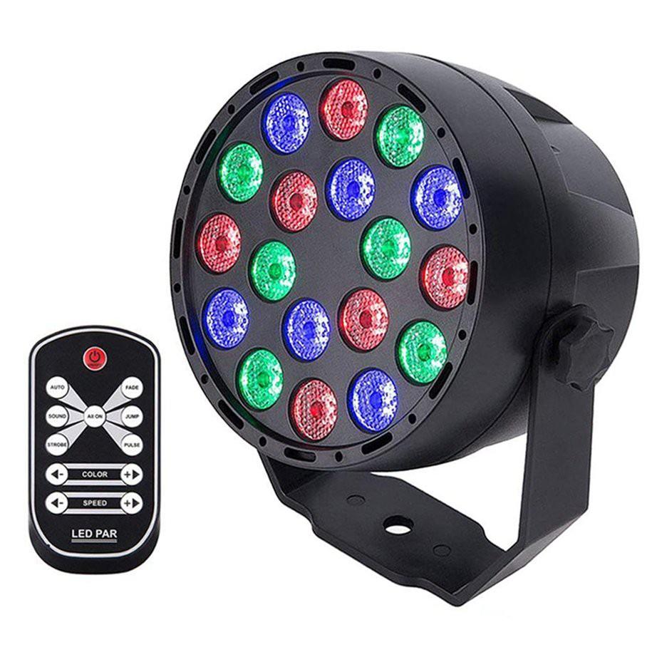 YKS#18W High Power LED Par Lights RGB Stage Lights 7 Modes DMX for Party DJ