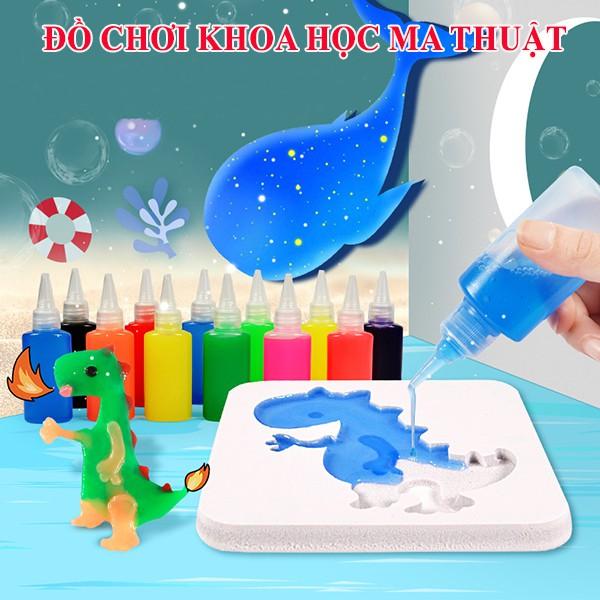 Bộ đồ chơi nước tạo hình 3d, mô hình nước ma thuật cho bé, bộ kit đồ chơi khoa học thí nghiệm cho trẻ em