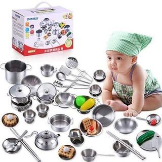 Bộ đồ chơi nhà bếp 40 món chất liệu inox