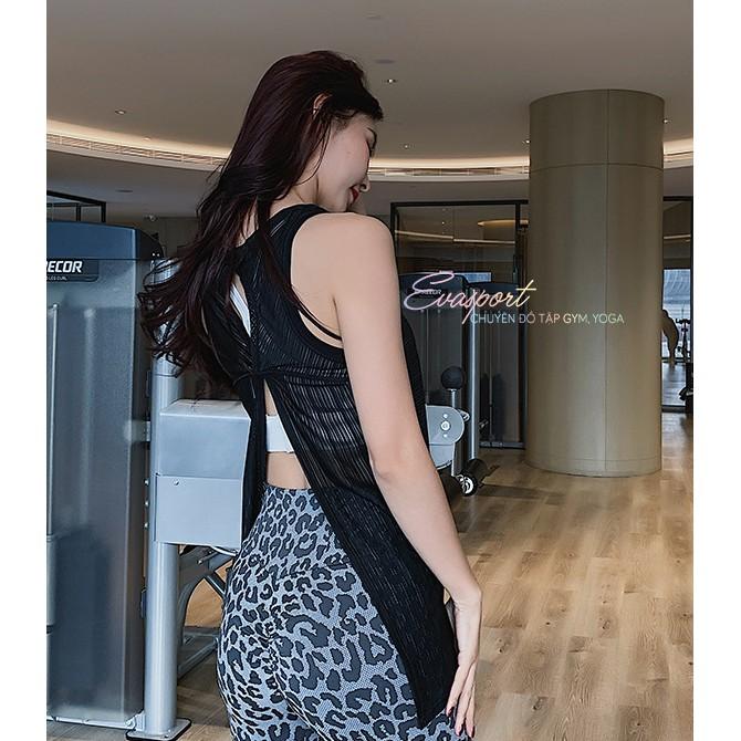 Mặc gì đẹp: Năng động với Áo lưới tanktop thời trang nữ tập gym, yoga, aerobic, zumba, thể thao Evasport