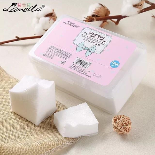 Bông tẩy trang Lameila hộp 1000 miếng