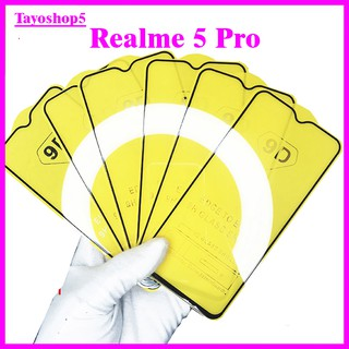 Kính cường lực REALME 5 PRO, Kính cường lực full màn hình, Ảnh thực shop tự chụp, tặng kèm bộ giấy lau kính TAIYOSHOP5 thumbnail