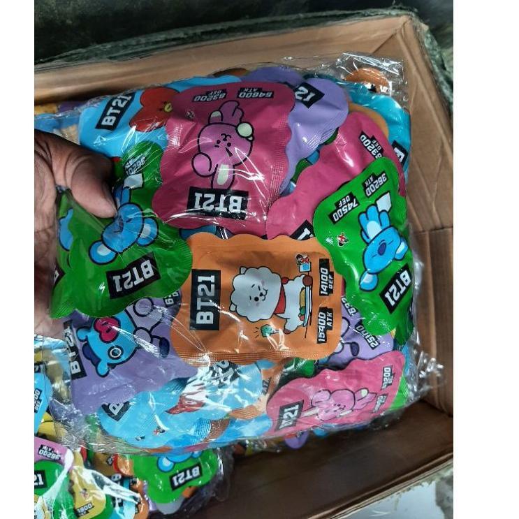 Set 100 Mô Hình Đồ Chơi Nhân Vật Bt21 Bom-boman