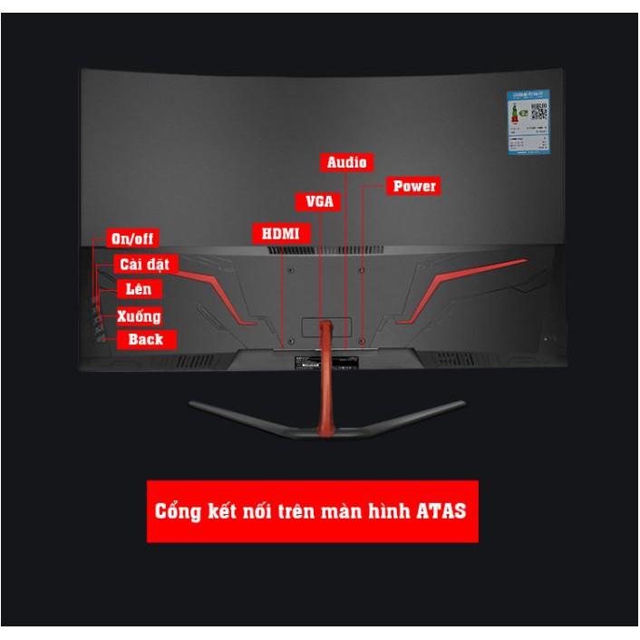 Màn hình Máy Tính 32 Inch Cong Chuyên Game ATAS Q318 Plus - AMD Fresssync - Tần số 75HZ