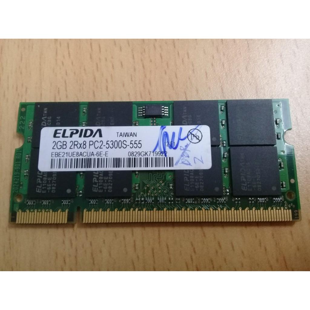 Bán ram laptop cũ DDR2 2G Giá chỉ 100.000₫