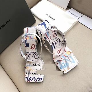 Sale 70% Sandal chất liệu da cao gót thiết kế đế dày cao cấp thời trang, 36 Giá gốc 2,393,000 đ - 55B1