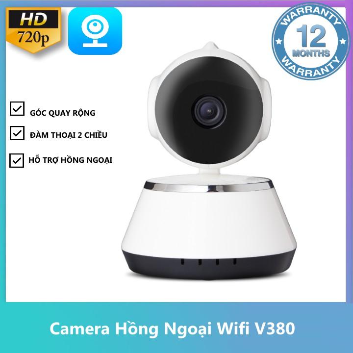 [FREESHIP] Camera IP Giám Sát Xoay 360 độ Kết nối Wifi V380 [Bảo Hành 12 Tháng]