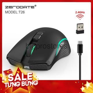 Chuột không dây Zerodate 2.4G Thiết kế Chuyên Biệt Cho Game Thủ - Dân Văn Phòng ( BH 12 tháng ) thumbnail