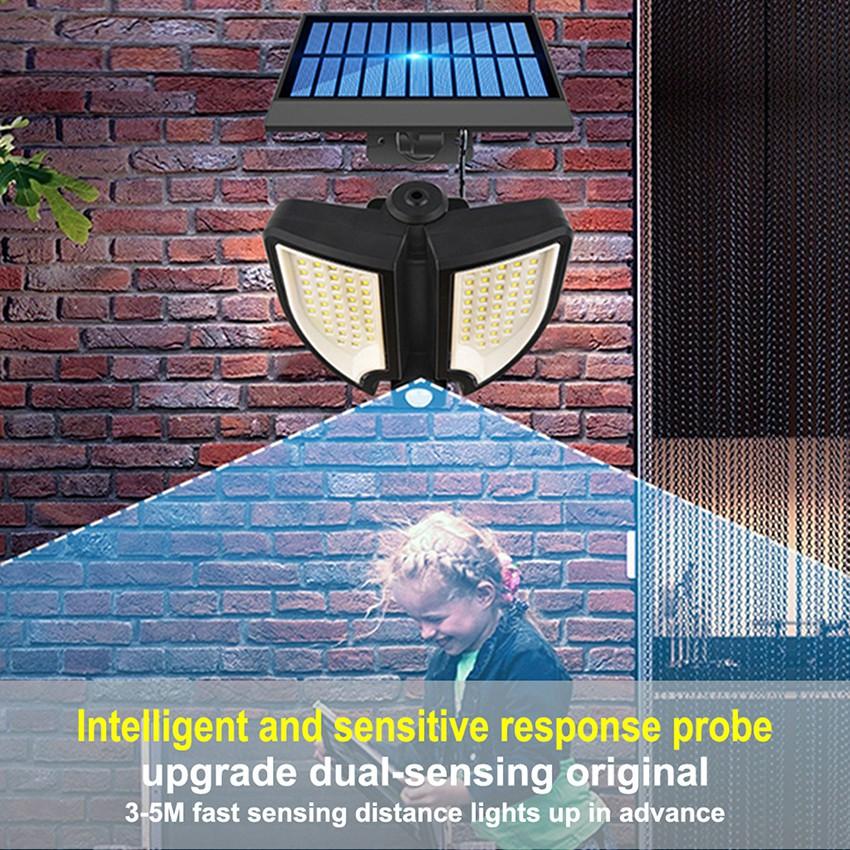 Đèn năng lượng mặt trời solar light mini giá rẻ có điều khiển dùng trong nhà và sân vườn 25w, cảm biến chuyển động YT90