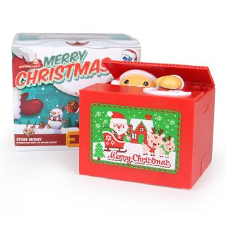 Christmas Santa Claus Electric Music Steal Money Piggy Bank Party Toy Gift