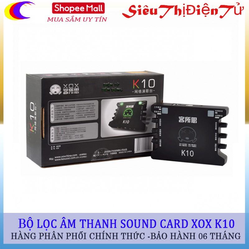 Bộ sound card XOX k10 Chuyển lọc âm thanh