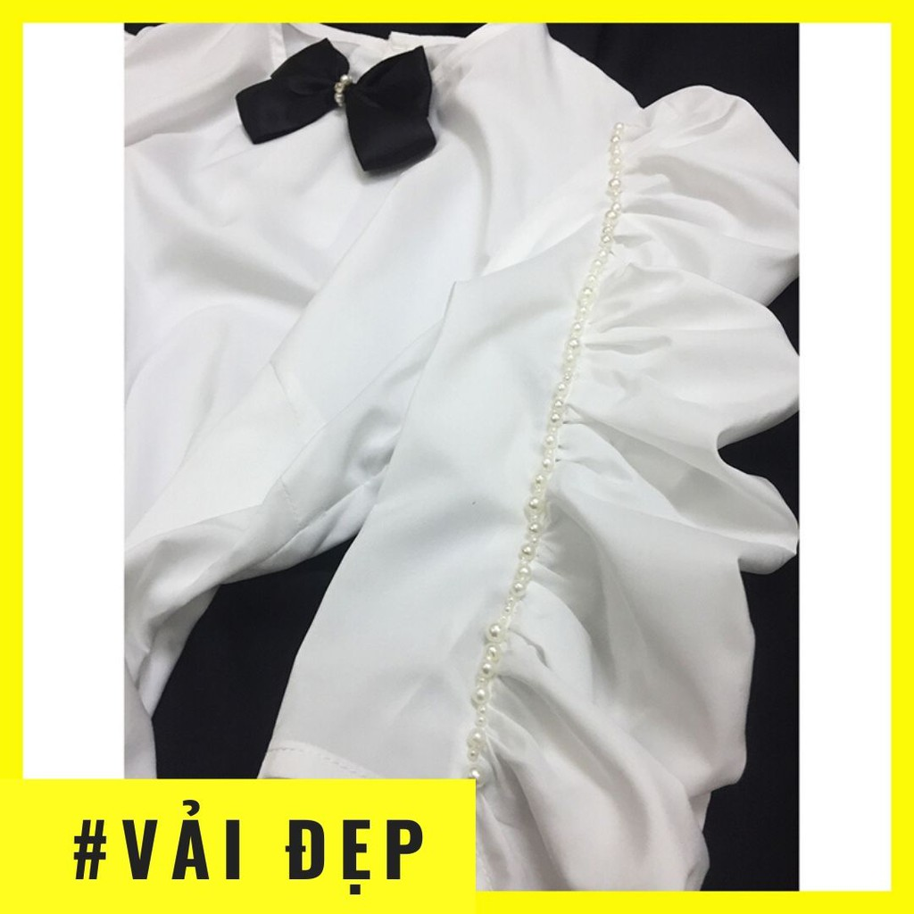 Mặc gì đẹp: Xinh xinh với Áo sơ mi nữ trắng tay lửng💖Ảnh thật💖 Áo trắng kiểu sang trọng dự tiệc