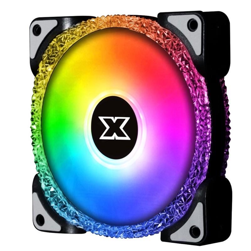 Bộ Fan RGB Xigmatek BR120 (3Fan kèm 1 hub & 1 điều khiển)   Hàng chính hãng bảo hành 12 tháng