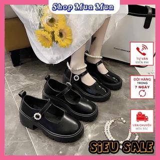 Giày nữ oxford ulzzang đính ngọc phong cách Hàn. Chất liệu mềm, đi êm chân. Phong cách thời trang cá tính thumbnail