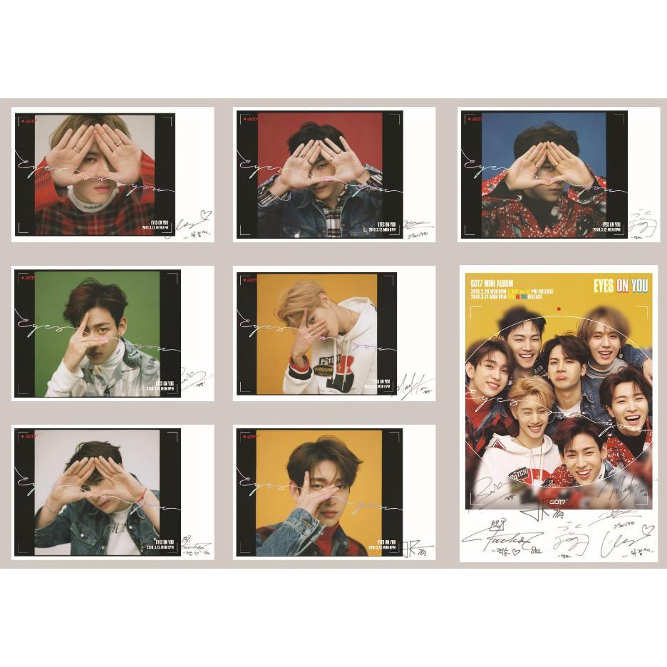 Lomo Card GOT7 Eyes On You Full version Có chữ ký
