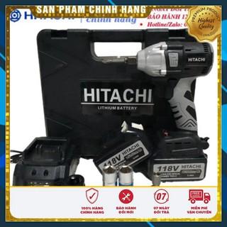 Máy siết bulong Hitachi 118v – 2 PIN – Đầu 2 trong 1 – KHÔNG CHỔI THAN – TẶNG BỘ PHỤ KIỆN VÀ 5 KHẨU TRẮNG – Chính hãng