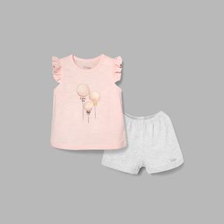 Đồ bộ BAA BABY cotton cộc tay in họa tiết cho bé gái - GT-DB04C thumbnail