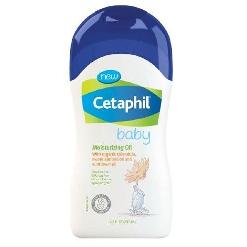Dầu dưỡng ẩm cho bé với tinh chất Organic Calendula, Sweet Almond và Sunflower Cetaphil 399 gr