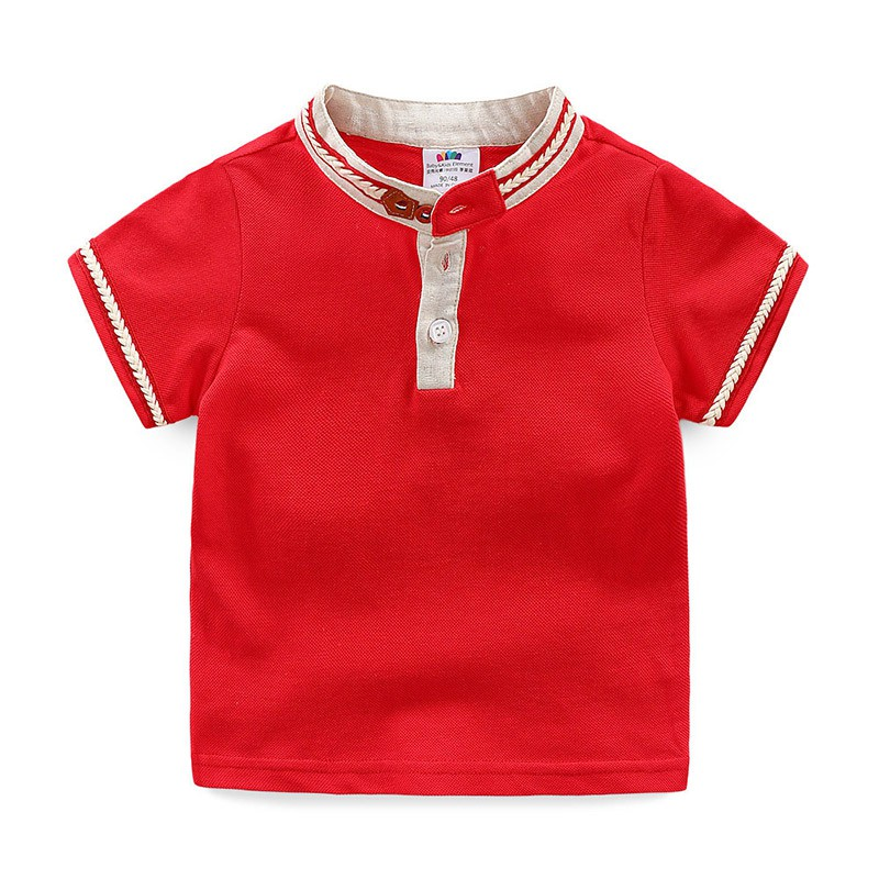 Baby Short Sleeve T-shirt New Boys'and Children's Collar Top