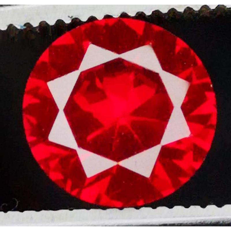 Đá Cuội Màu Đỏ Moissanite