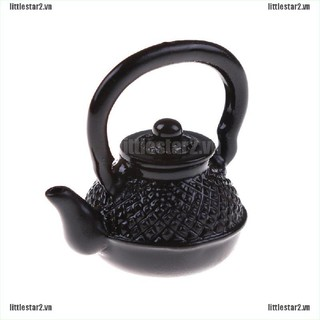 {MUV} Doll House Decoration Metal Boiling Water Kettle 1/12 Dollhouse Kitchen toy{FC}