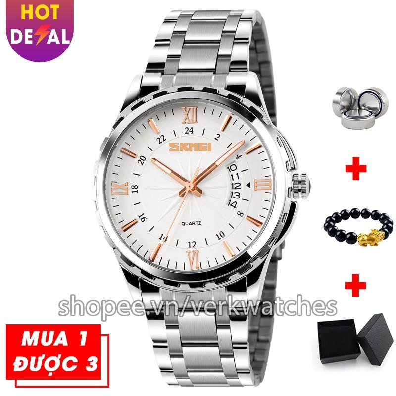 Đồng hồ nam cao cấp dây thép không gỉ chống nước SKMEI VK014 - Verk Watches [ + QUÀ TẶNG] Đồng hồ nam cao cấp dây thép không gỉ chống nước SKMEI VK014 - Verk Watches