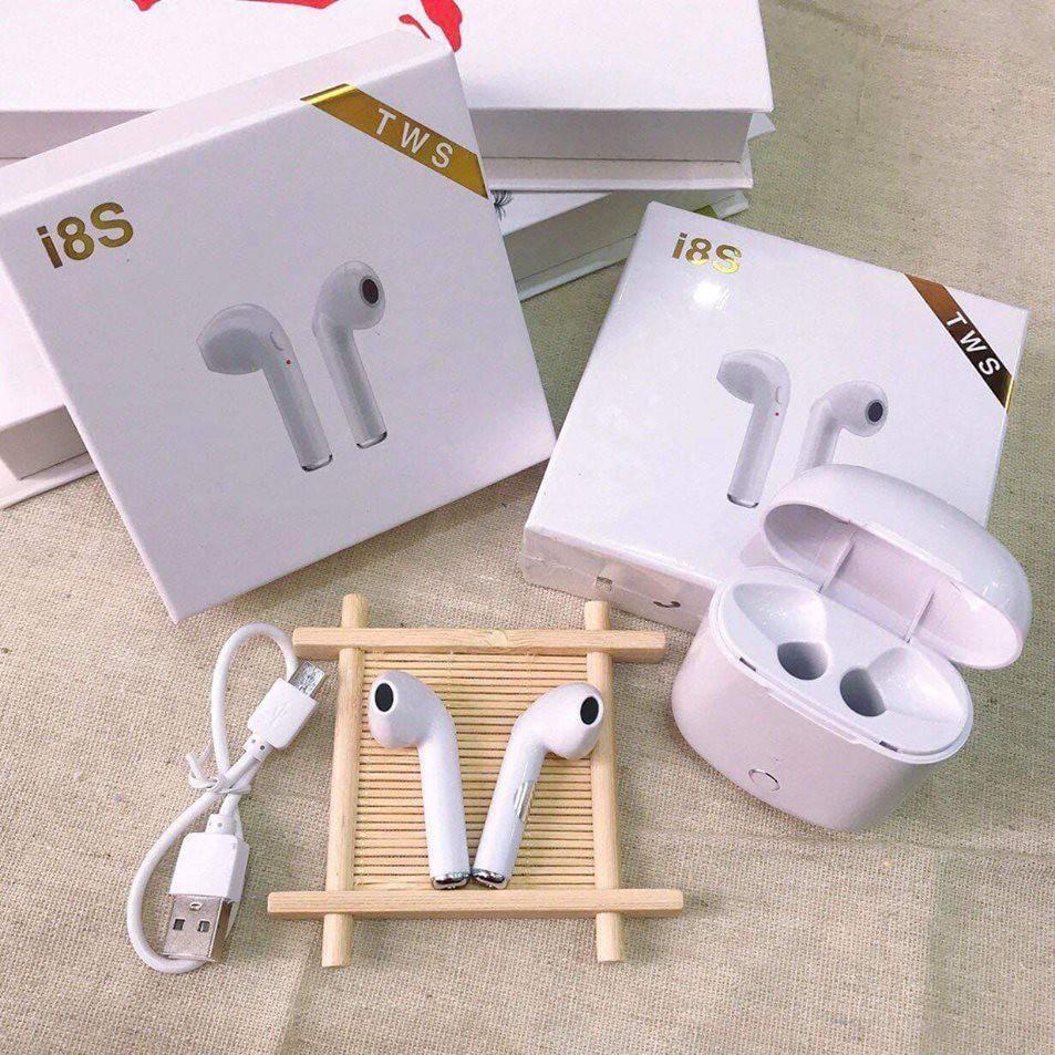 Tai Nghe I8S không dây kết nối Bluetooth, lọc âm chống ồn_quynhnga