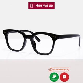 Gọng kính cận nam nữ mắt vuông chữ V phụ kiện thời trang Lilyeyewear 6810