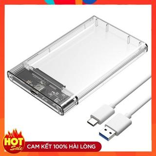 Hộp đựng ổ cứng 2.5 inch HDD Box HDD Qgeen C25B USB 3.0 trong suốt I