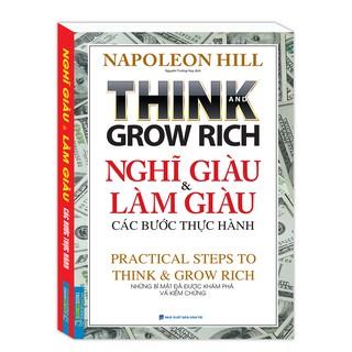 Sách - Think and grow rich Nghĩ giàu và làm giàu các bước thực hành Kèm bookmark