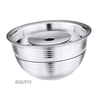 [DOLITY2]Coffee Capsule Pod Cup w/ Lid for Vertuolline ENV135S 240ML