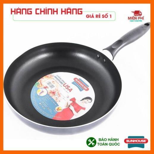 Chảo chống dính bếp từ Sunhouse 24cm, chảo chống dính SUNHOUSE SHM24 phù hợp với mọi loại bếp.