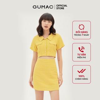 Chân váy nữ caro GUMAC phong cách cá tính, năng động màu vàng VB333 thumbnail